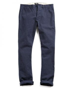 Todd Snyder Japanese Selvedge Chino Officer Pant in Navy