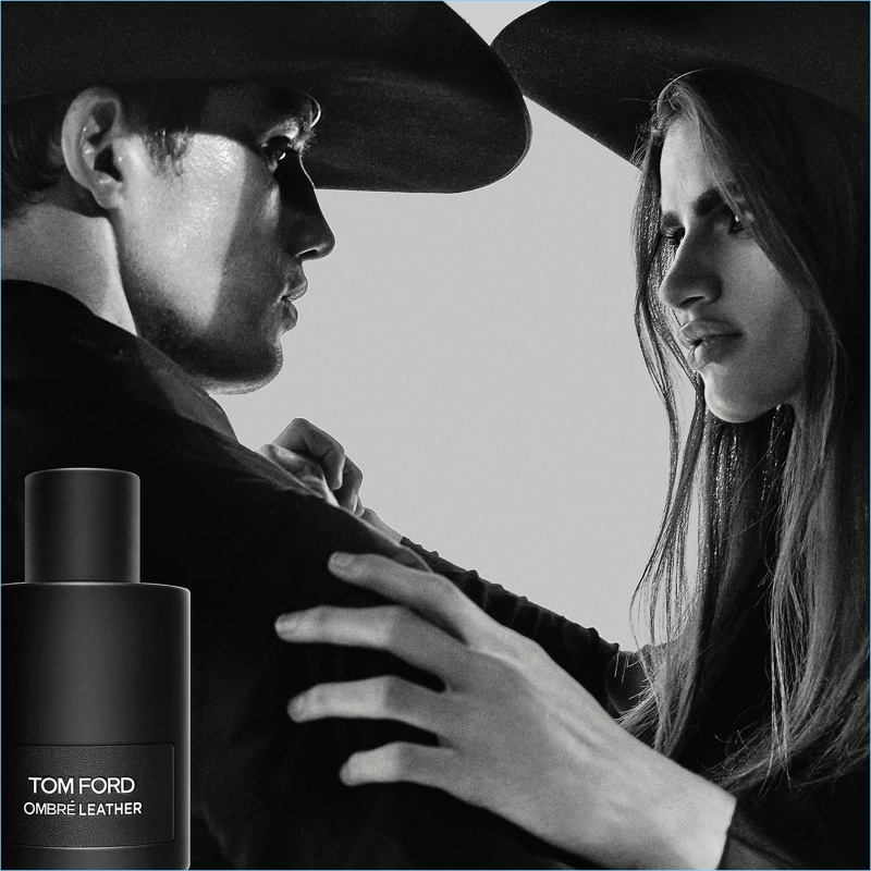 Bonner Bolton and Linda Helena star in the Tom Ford Ombré Leather fragrance campaign.