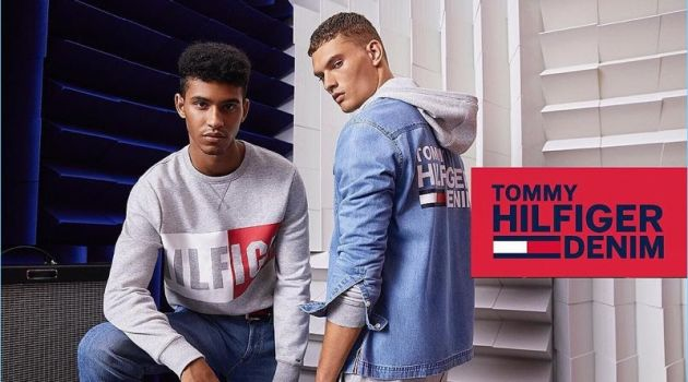 Models Hector Diaz and William Los wear looks from Tommy Hilfiger Denim.