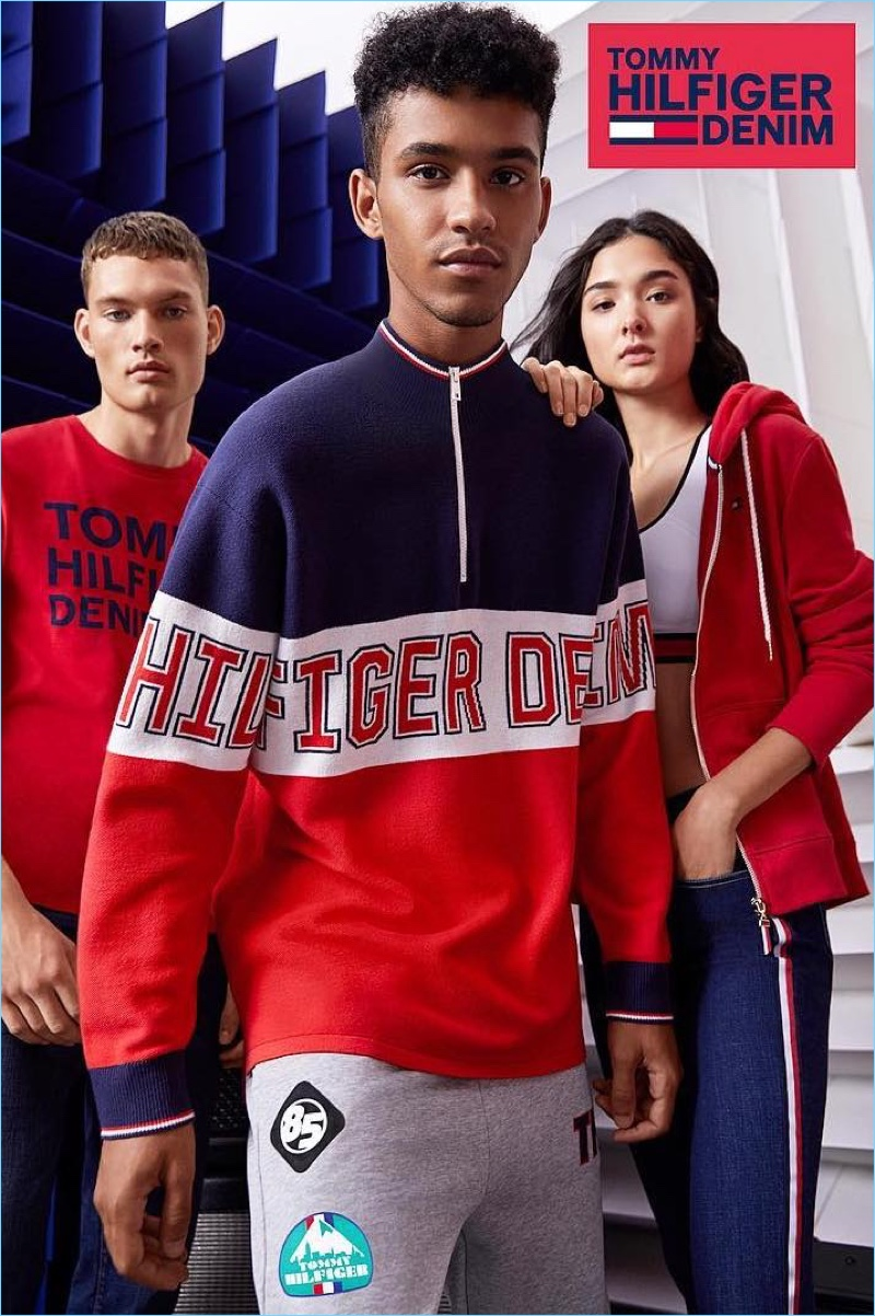 Hector Diaz and William Los connect with Tommy Hilfiger Denim to model its latest fashions.