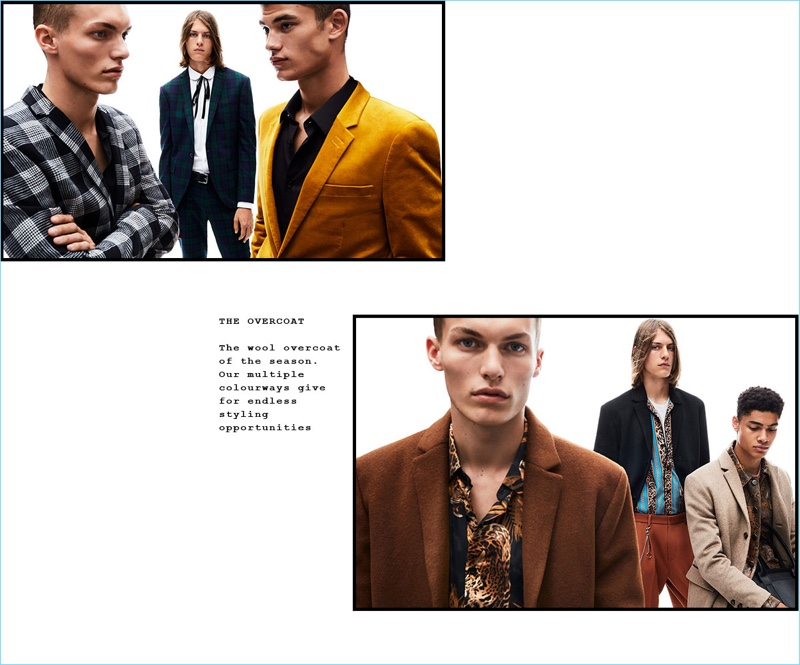 Topman enlists Kasper Peppink, Zach Norton, Finn Hayton, and Désiré Mia as the stars of its fall-winter 2018 campaign.