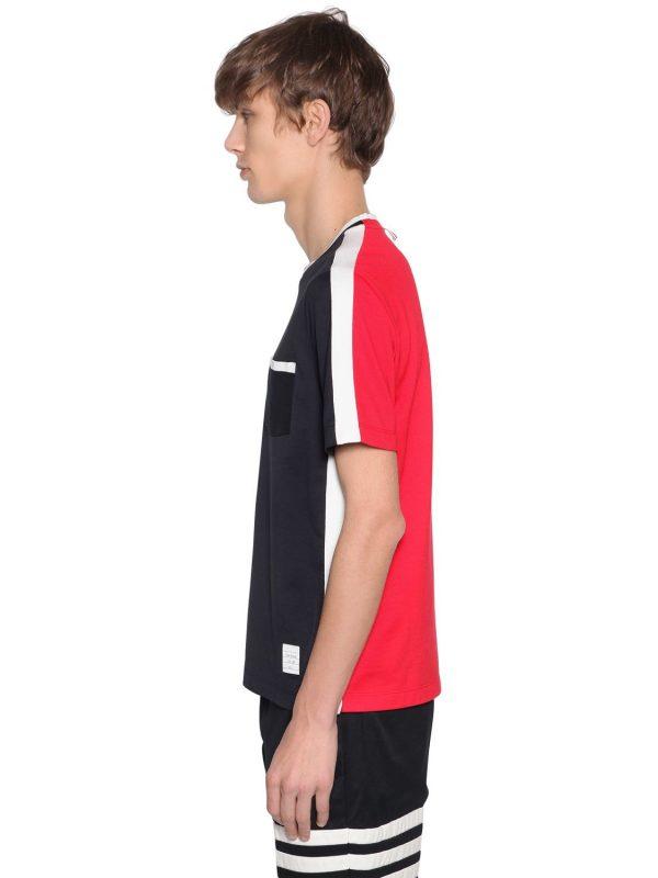 Two Tone Jersey T-shirt W/ Side Stripes