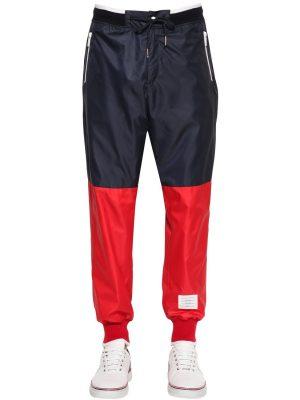 Two Tone Nylon Ripstop Track Pants
