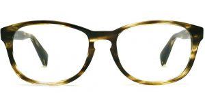 Warby Parker Eyeglasses - Dale in Striped Olive
