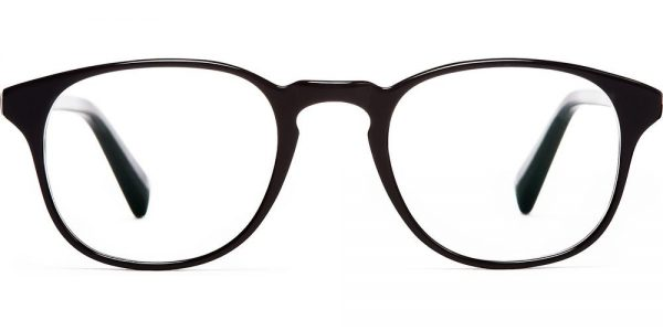 Warby Parker Eyeglasses - Downing in Jet Black