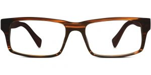 Warby Parker Eyeglasses - Felton in Striped Maple