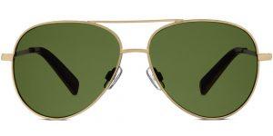 Warby Parker Sunglasses - Batten in Polished Gold