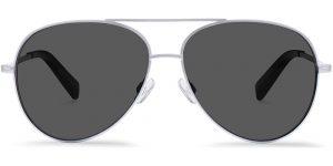 Warby Parker Sunglasses - Crossfield in Jet Silver