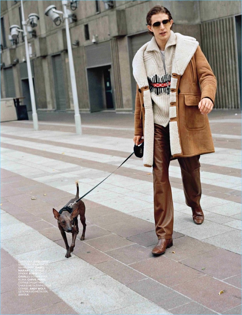 Xavier Buestel Tackles Western Style for GQ Russia
