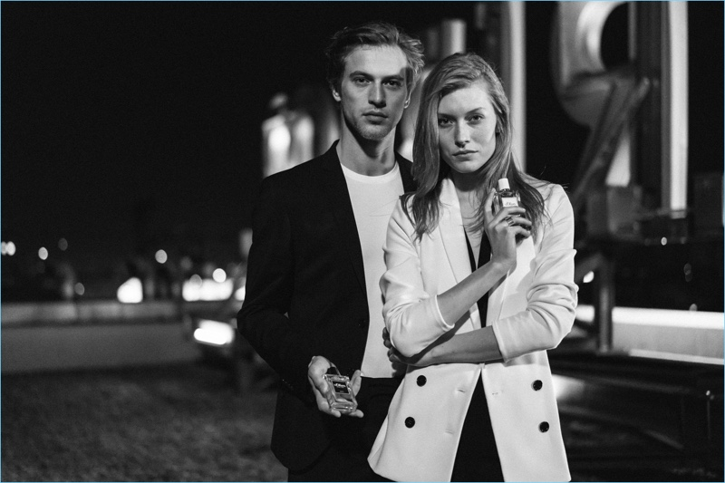 Models Jules Raynal and Caroline Lossberg front the new campaign for s.Oliver Black Label.