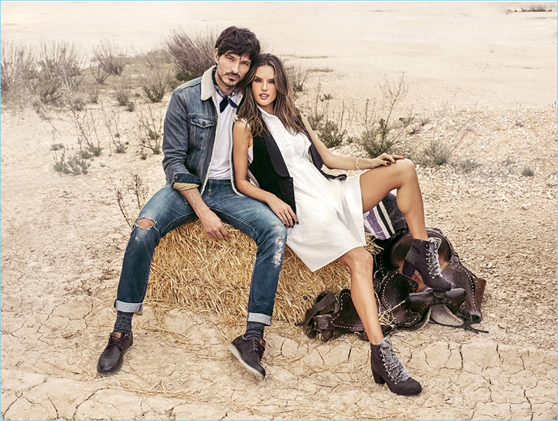 Once again, xti taps Andres Velencoso and Alessandra Ambrósio to front its latest campaign.