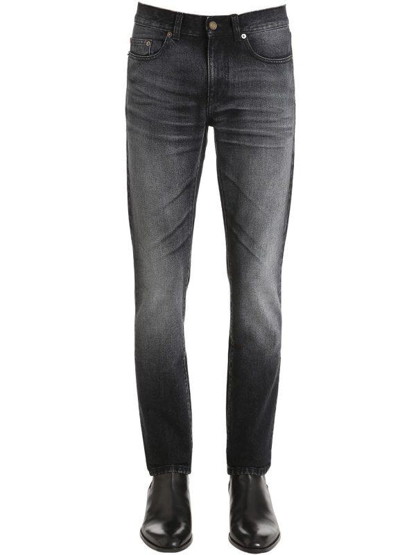 15.5cm Patch Cotton Denim Jeans