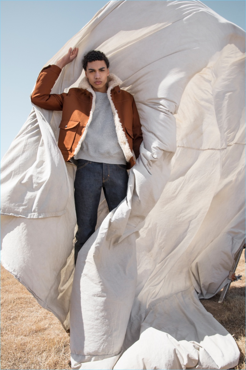 David Lim and Brandon Harman photograph Sol Goss for AG Jeans' fall-winter 2018 campaign.