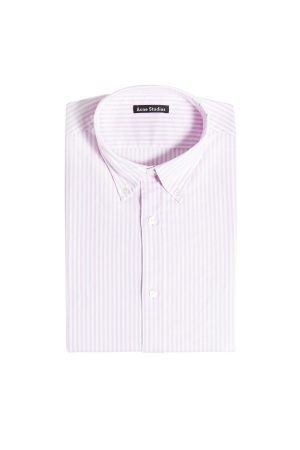 Acne Studios Ohio Face Striped Cotton Shirt