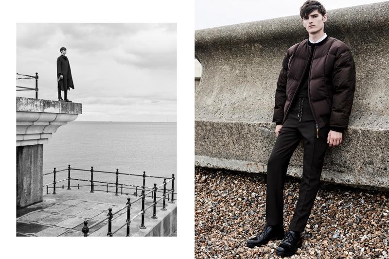 Embracing contemporary style, Alexander Beck wears Hugo Boss.