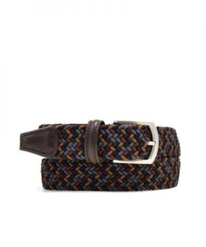 Anderson's Multi Woven Elastic Belt in Brown