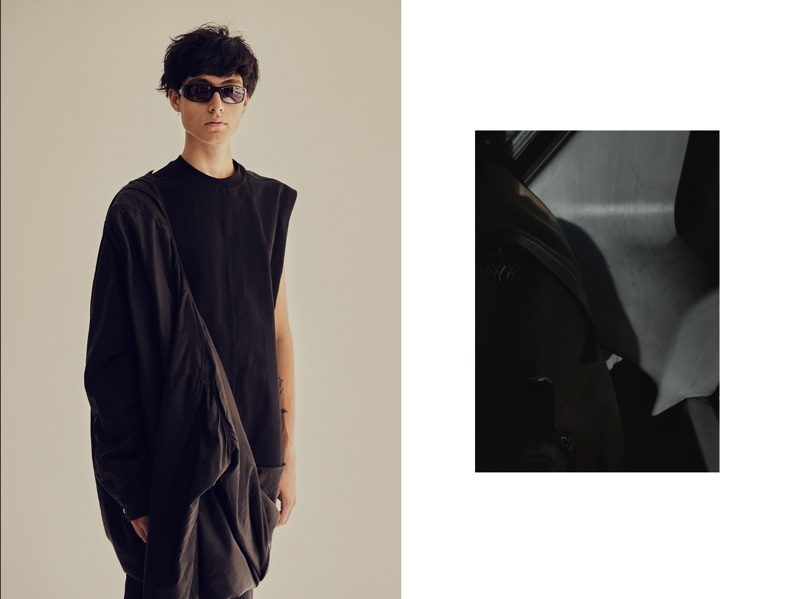 Anthony wears tunic Rick Owens and sunglasses stylist's own.