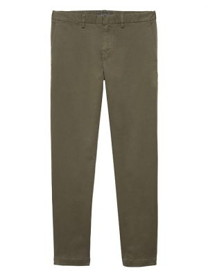 Banana Republic Mens BR x Kevin Love Emerson Straight Garment Dyed Chino Pant New Juniper Green Size 26W