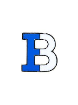 Banana Republic Mens BR x Kevin Love Enamel B Pin Blue Size One Size