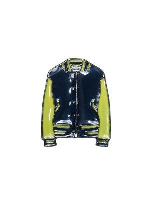 Banana Republic Mens BR x Kevin Love Enamel Varsity Jacket Pin Gold Multi Size One Size