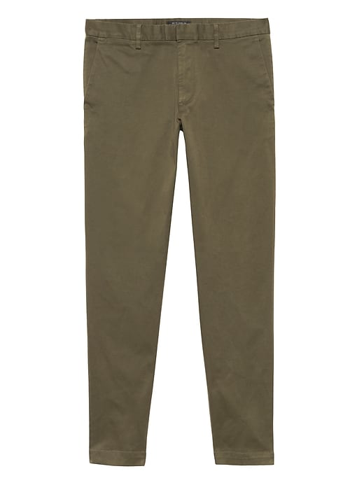 Banana Republic Mens BR x Kevin Love Mason Athletic Tapered Garment Dyed Chino Pant New Juniper Green Size 26W