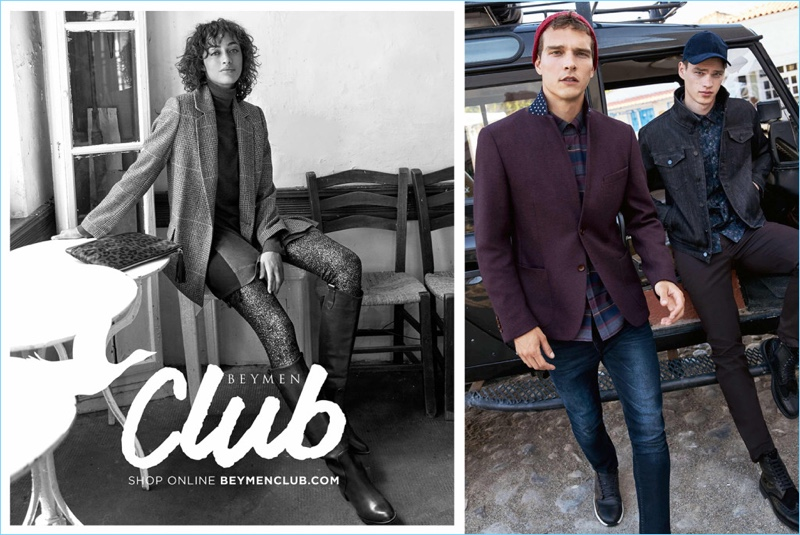 Beymen Club enlists models Alanna Arrington, Alexandre Cunha, and Filip Hrivnak to star in its fall-winter 2018 campaign.