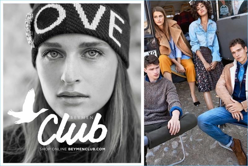 Koray Birand photographs Regitze Christensen, Filip Hrivnak, Alanna Arrington, and Alexandre Cunha for Beymen Club's fall-winter 2018 campaign.