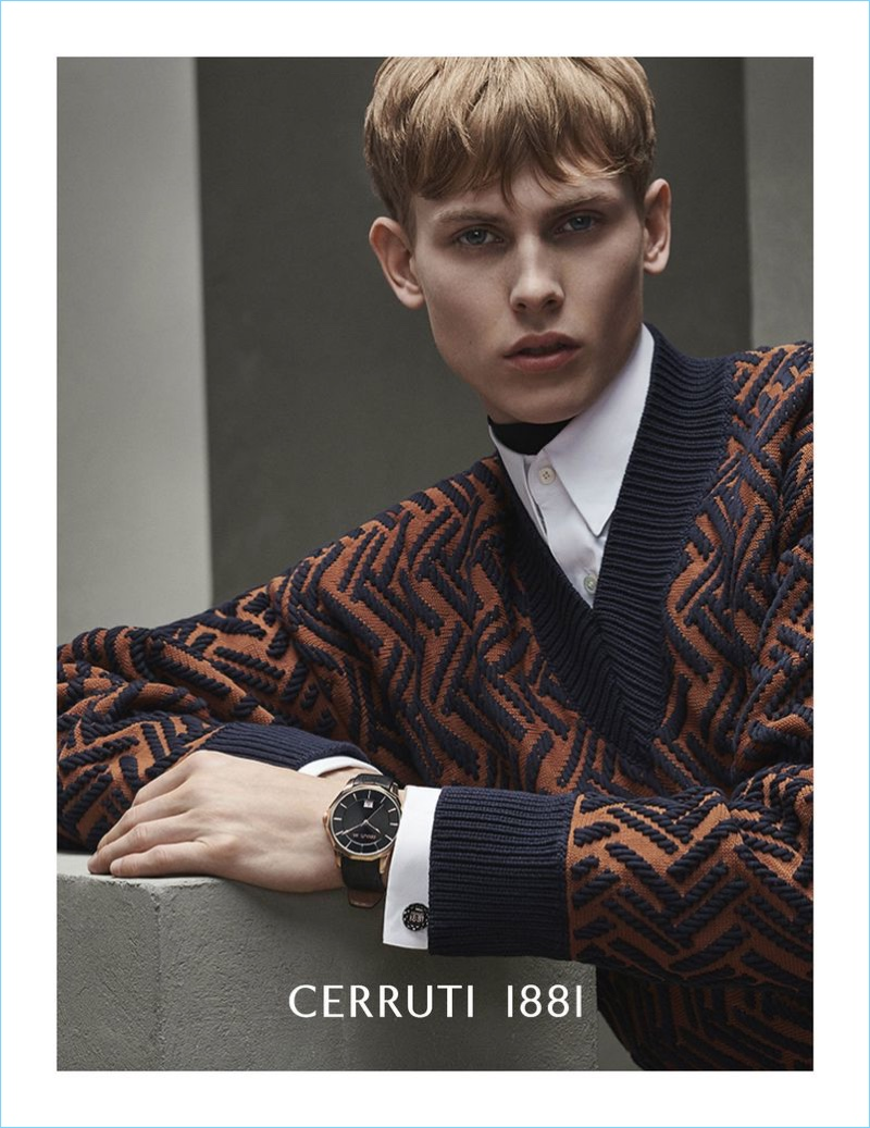 Oliver Houlby stars in Cerruti 1881's fall-winter 2018 campaign.