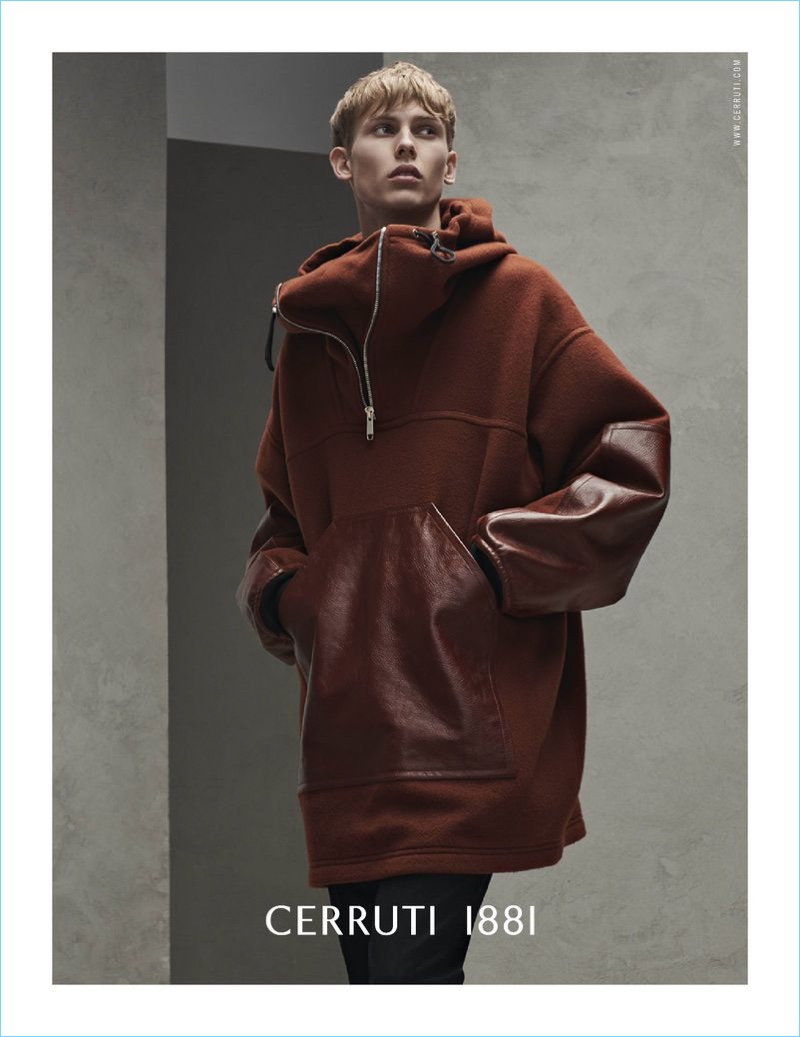 Cerruti 1881 enlists Oliver Houlby to star in its fall-winter 2018 campaign.