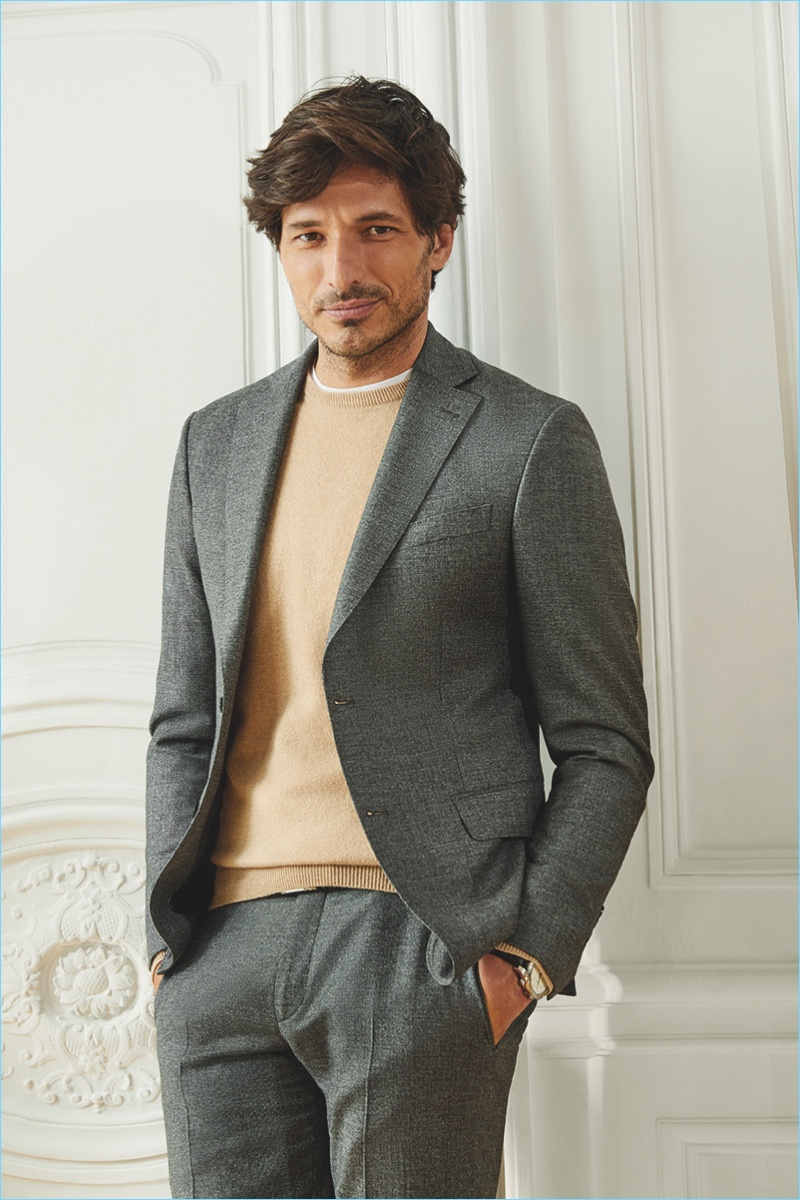 Spanish model Andres Velencoso fronts Cortefiel's fall-winter 2018 campaign.