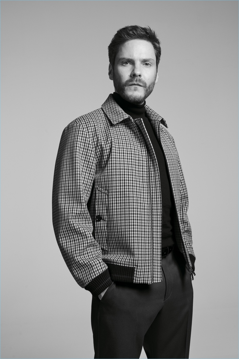 Daniel Brühl stars in the BOSS Made in Germany capsule collection campaign.