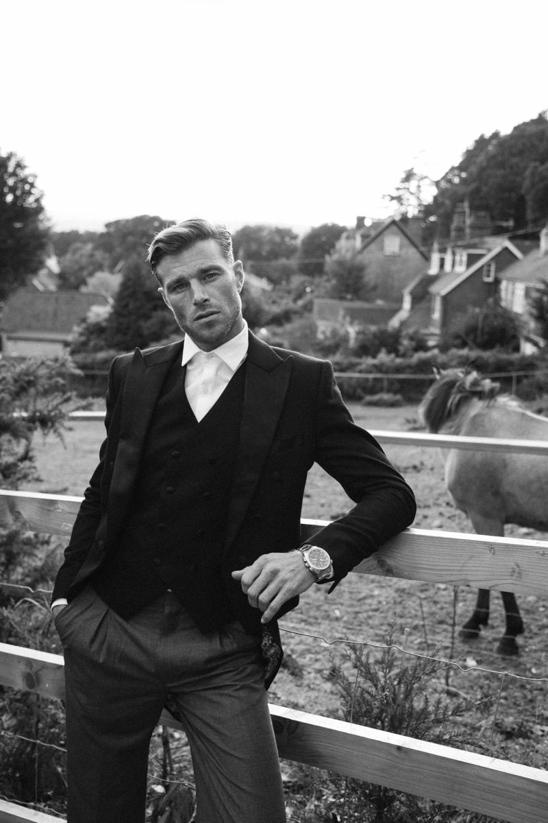 Kay Sukumar photographs David Frampton in a dapper number by Helen Anthony.