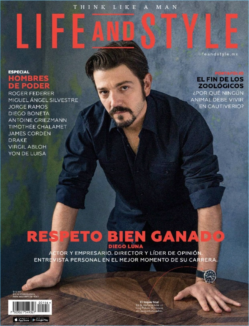 Diego Luna covers Life and Style México.