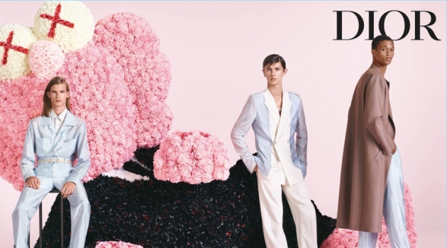 Lukas Gomann, Prince Nikolai of Denmark, and Romaine Dixon appear in Dior Men's spring-summer 2019 campaign.