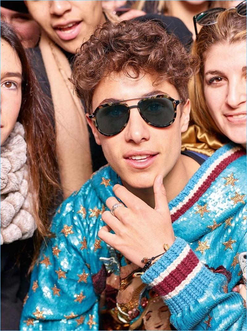 3b85554e39 Juanpa Zurita stars in Dolce   Gabbana s fall-winter 2018 eyewear campaign.