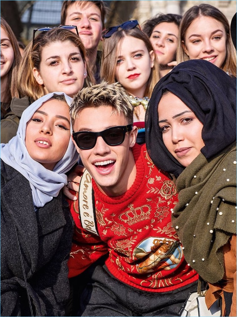 Cameron Dallas is front and center for Dolce & Gabbana's fall-winter 2018 eyewear campaign.