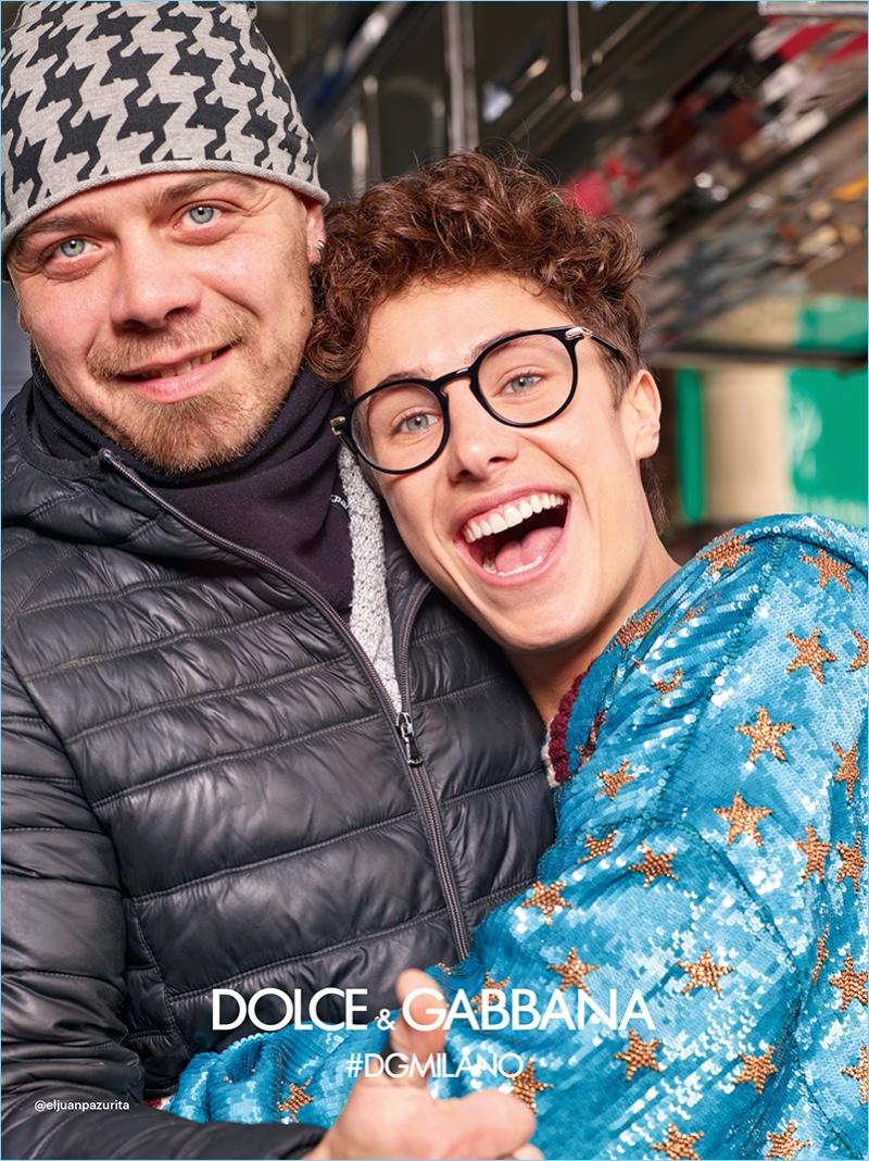 All smiles, Juanpa Zurita fronts Dolce & Gabbana's fall-winter 2018 eyewear campaign.