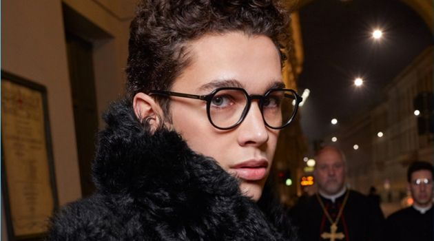 Austin Mahone appears in Dolce & Gabbana's fall-winter 2018 eyewear campaign.