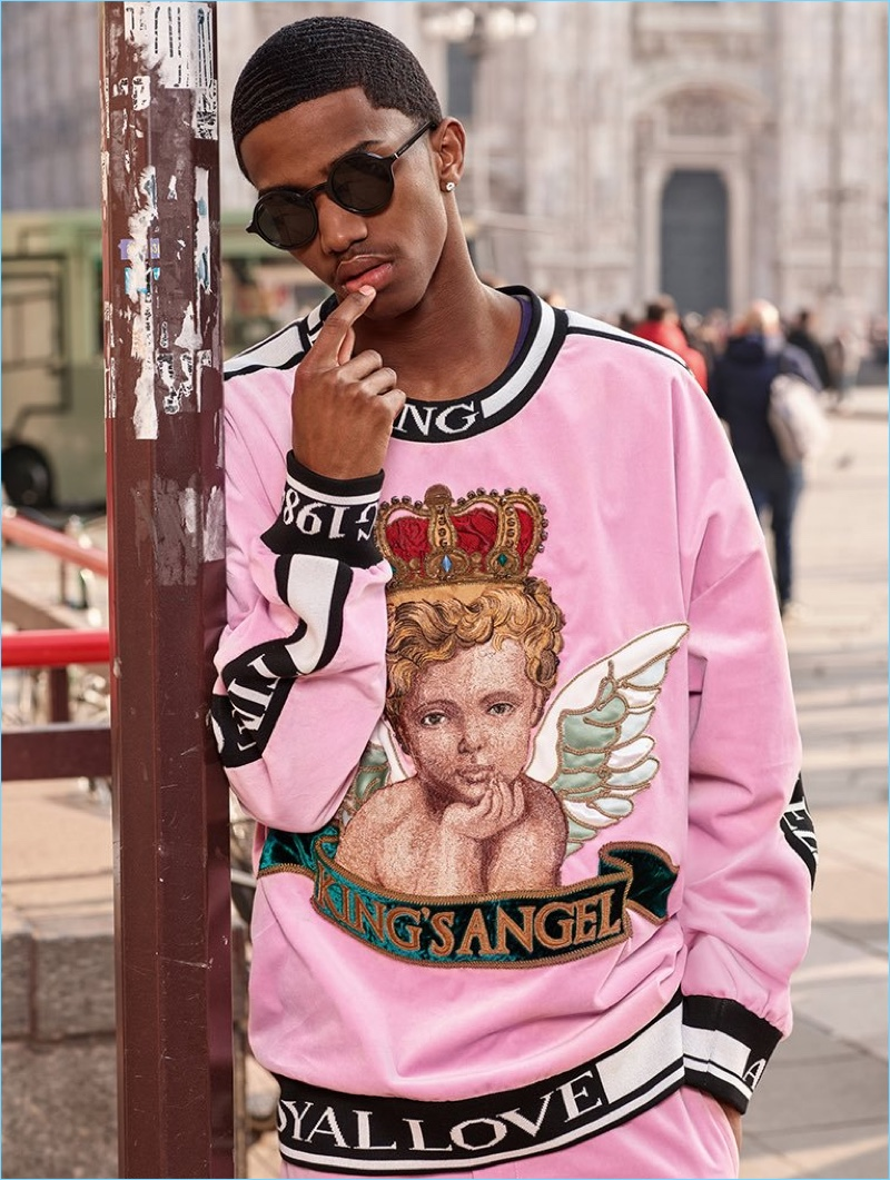 Christian Combs fronts Dolce & Gabbana's fall-winter 2018 eyewear campaign.