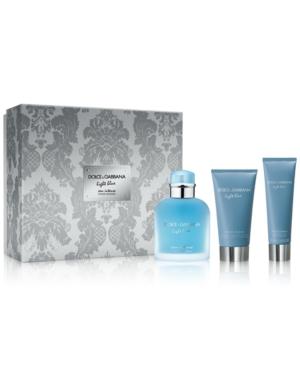 Dolce & Gabbana Men's 3-Pc. Light Blue Eau Intense Pour Homme Gift Set
