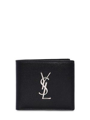 East/west Logo Leather Wallet