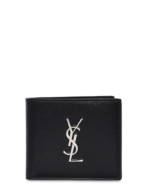 East/west Logo Leather Wallet