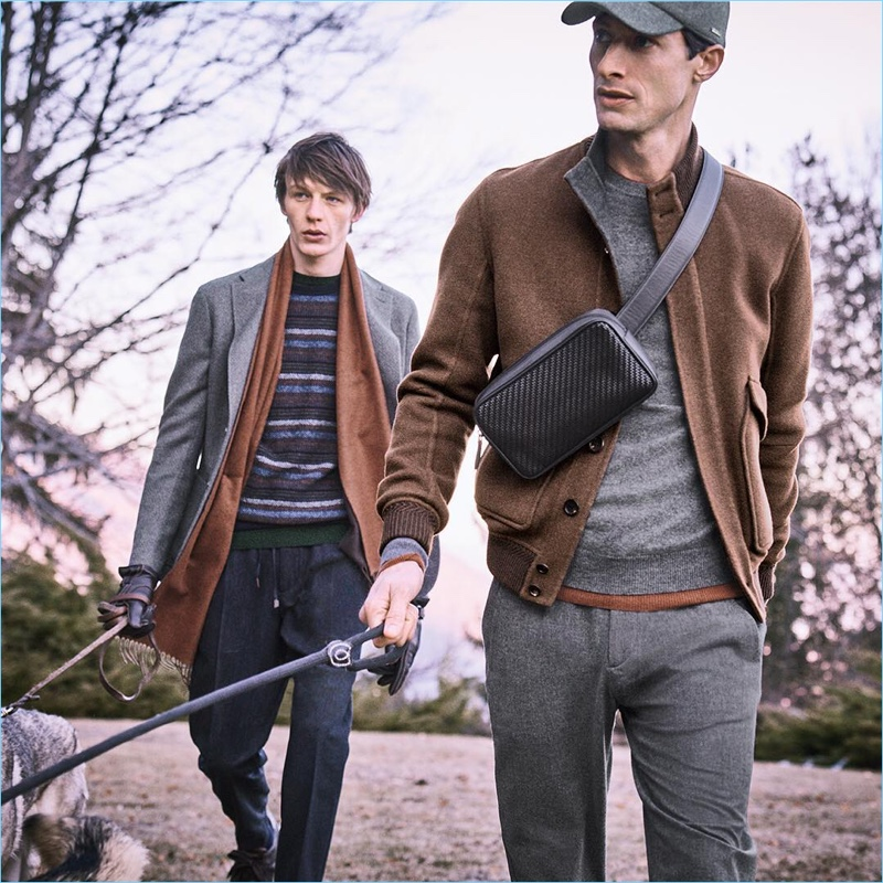 Ermenegildo Zegna enlists Finnlay Davis and Jonas Mason to front its fall-winter 2018 outing.
