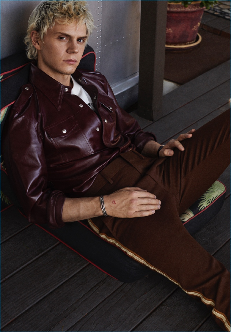 Wearing Calvin Klein, Evan Peters graces the pages of Icon magazine.
