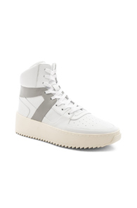Fear of God Leather Basketball Sneakers in White