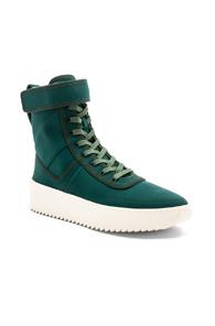 Fear of God Neoprene Military Sneakers in Green