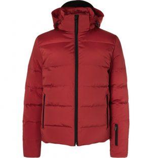 Fendi - Appliquéd Quilted Down Ski Jacket - Red
