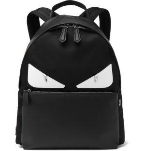 Fendi - Bag Bugs Nylon and Leather Backpack - Black