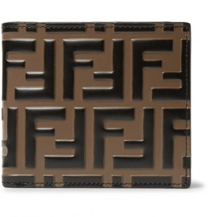 Fendi - Logo-Embossed Leather Billfold Wallet - Brown