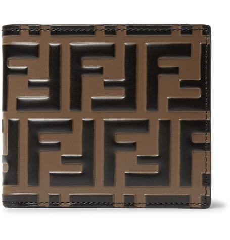 Fendi - Logo-Embossed Leather Billfold Wallet - Brown